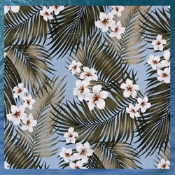 Plumeria Palms Bed Skirt
