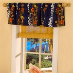 Hawaiian Print Window Valance