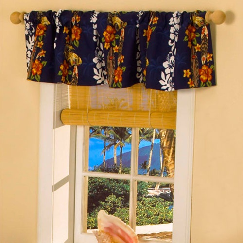 Hawaiian Print Window Valance