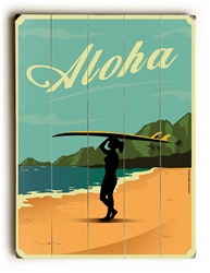 Hawaiian Wood Sign