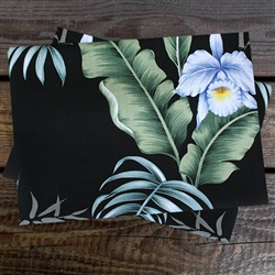 Black Hibiscus Pillowcase