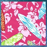 Hot Pink Hibiscus Fabric