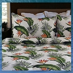 Hot Tropic Cream Duvet Cover