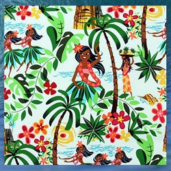 Hula Girl Comforter Set
