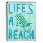 Life's A Beach Wood Sign