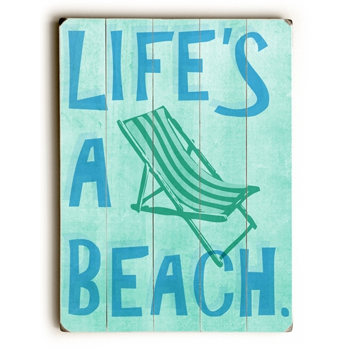 Life S A Beach Wood Sign Are Available Here