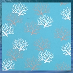 Outdoor Coral Reef Throw Pillow