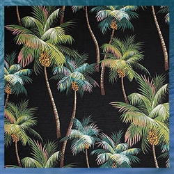 Palm Tree Fleece Blanket - Black