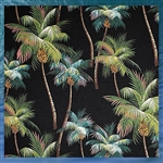 Palm Tree Fabric Bed Skirt