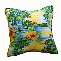 Paradise Abound Throw Pillow