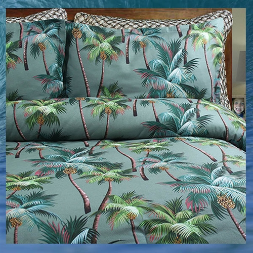 Palm Tree Comforter by Dean Miller