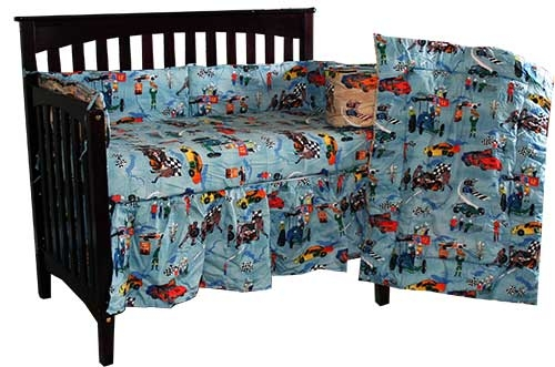 Race Car Four Piece Crib Set By The Sticklers