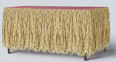 Raffia Table Skirt For Your Party Needs