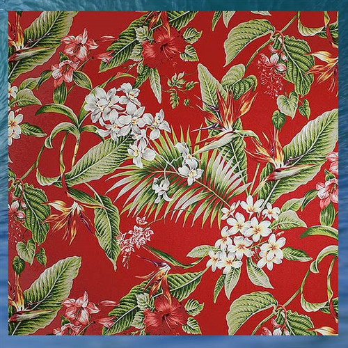 Red Birds Of Paradise Shower Curtain