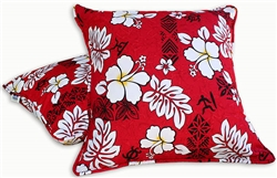 Red Lava Rocks Throw Pillow