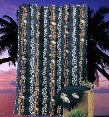 Tropical Shower Curtain Hawaiian