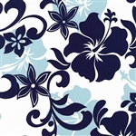Spa Blue Hibiscus Duvet Cover