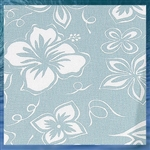 Spa Blue Hibiscus Fabric by the Yard