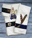 Surfboard Bath Towel Set
