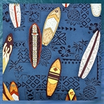 Blue Surfboard Fabric