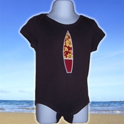 Brown Surfboard Onesie