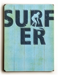 Surfer Outline Wood Sign