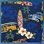 Woody Car Tapa Fabric