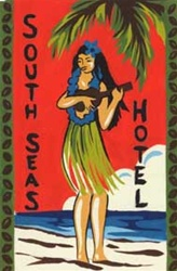 Hawaiiana Tin Sign