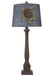 Rope Turtle Candlestick Lamp