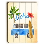 Whimsical Woody Car Wood Sign
