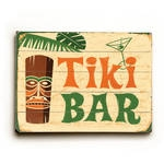 Wood Tiki Bar Sign