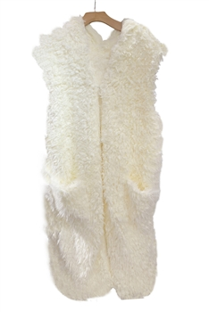 Soft Faux Fur Long Vest
