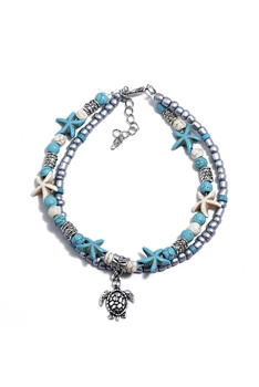Tortoise Double Layer Anklet AK0002