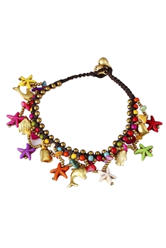 Seaflish Bells Anklet Set AK0024 - Multi