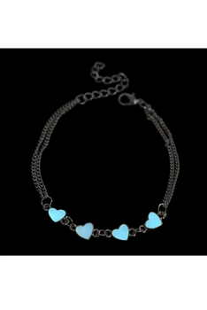 Heart Luminous Chain Anklet AK0030