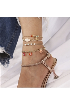 Shell Bead Anklet Set AK0040