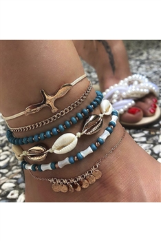 Shell Bead Anklet Set AK0042