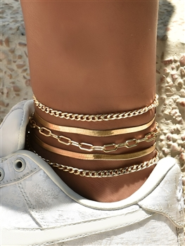 Alloy Anklet Set AK0046