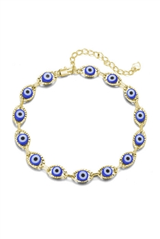 Evil Eye Chain Anklet AK0057 - Gold