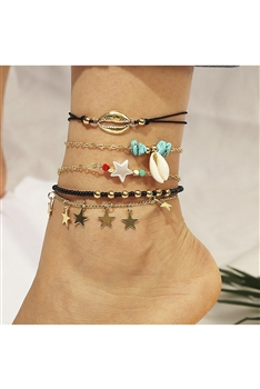 Star Shell Anklet Set AK0066