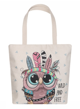 American Indian Owl Canvas Bag AO8024