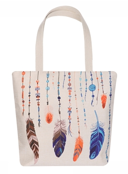 Vertical Feather Canvas Bag AO8031