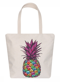 Purple Pineapple Canvas Bag AO8042