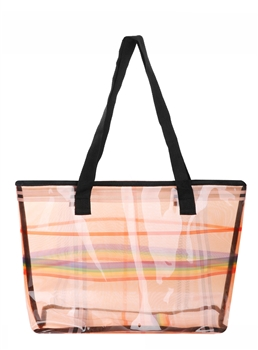 Rainbow Checkered Tote Bag AO8046