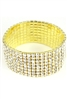 Rhinestone Stretch Bracelet (Wide) B1010-Gold