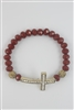 Crystal Accent Cross Bracelet B1207-Red