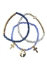 Crystal Cross Cutout Multi Layer Bracelets B1208-Blue