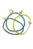 Crystal Cross Cutout Multi Layer Bracelets B1208-Green