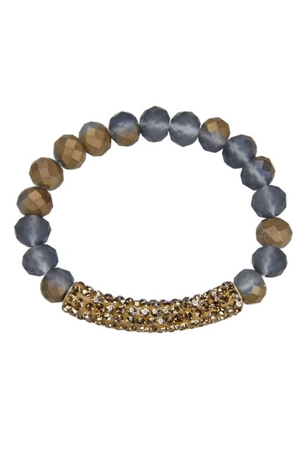Crystal Beaded Stretch Bracelet B1318