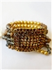 Large Crystal Encrusted Square Beaded Bracelet B1319